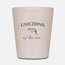 Unicorns of the sea Shot Glass
