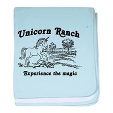 Unicorn Ranch T-shirt baby blanket