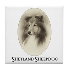 Vintage Sheltie Tile Coaster