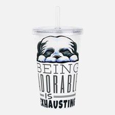 Adorable Shih Tzu Acrylic Double-wall Tumbler