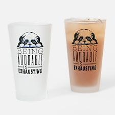 Adorable Shih Tzu Drinking Glass
