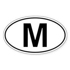 M - Malta Oval Car Decal