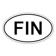 Fin - Finland Oval Car Decal