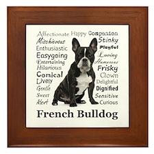 Frenchie Traits Framed Tile