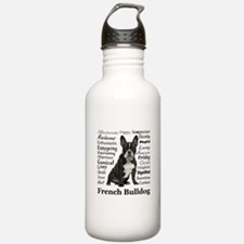 Frenchie Traits Water Bottle
