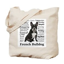 Frenchie Traits Tote Bag