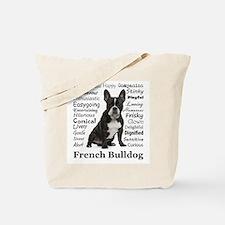 Frenchie Traits Tote Bag