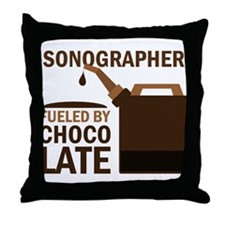 Sonographer Fueled by chocolate Throw Pillow