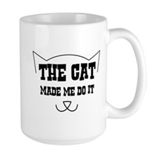 The cat made me do it Mugs