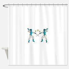 Women Fencing Shower Curtain
