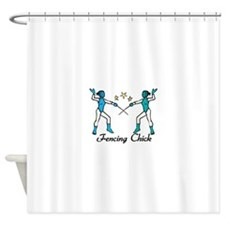 Fencing Chick Shower Curtain