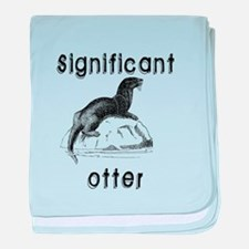Significant otter baby blanket