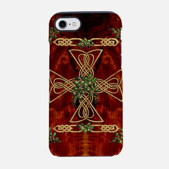 Harvest Moons Celtic Holly Cross iPhone 7 Tough Ca