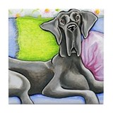 Blue great dane Drink Coasters