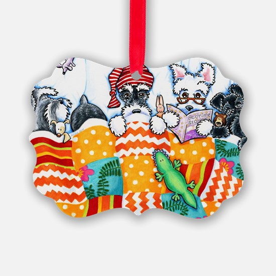 Schnauzers And Snoozes Ornament