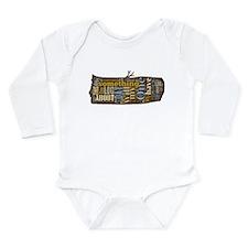 My Log Long Sleeve Infant Bodysuit