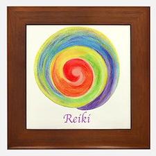 Cute Energy healing symbol Framed Tile