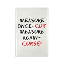 measure curse Rectangle Magnet