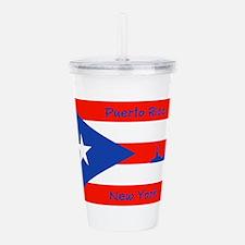 Puerto Rico New York Acrylic Double-Wall Tumbler