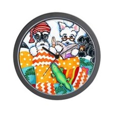 Schnauzers And Snoozes Wall Clock