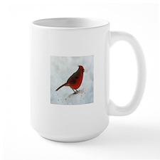 Snow cardinal Mugs