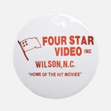 Four Star Video Ornament (Round)