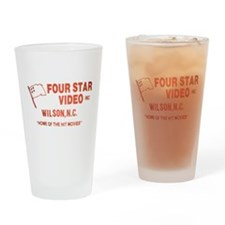 Four Star Video Drinking Glass