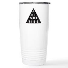 Priorities Triangle Travel Mug