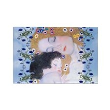 Gustav Klimt Mother & Child Bucke Rectangle Magnet