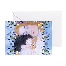 Gustav Klimt Mother & Child Diaper B Greeting Card