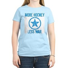 More Hockey Less War T-Shirt