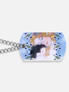Gustav Klimt Mother & Child Messenger Bag Dog Tags