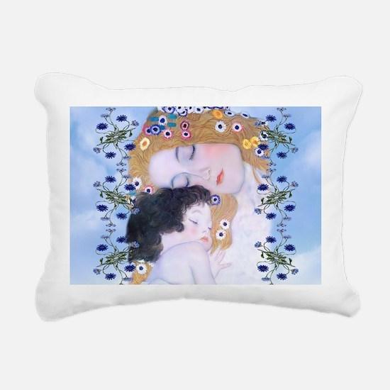 Gustav Klimt Mother & Ch Rectangular Canvas Pillow