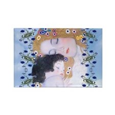 Gustav Klimt Mother & Child Messe Rectangle Magnet