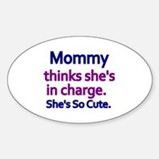 Cute Baby weight lifting Sticker (Oval)