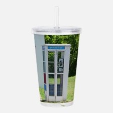 Phone Booth Acrylic Double-wall Tumbler
