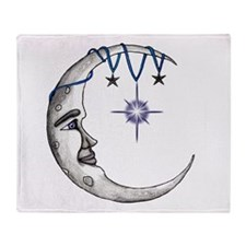 Man in the Moon Throw Blanket