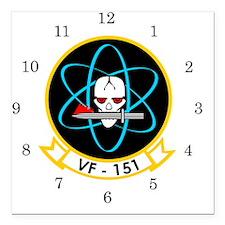 "VF-151 Vigilantes Square Car Magnet 3"" x 3"""