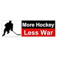 More Hockey Less War Bumper Car Sticker