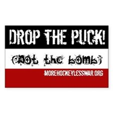Drop the Puck Rectangle Decal