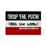 Drop the Puck Rectangle Magnet