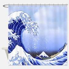 Surf's Up! Hokusai The Great Wave Shower Curtain