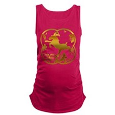 Chinese Year of The Goat Ram Sh Maternity Tank Top