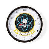 Uss midway Wall Clocks