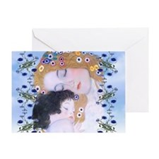 Gustav Klimt Mother & Child Laptop S Greeting Card