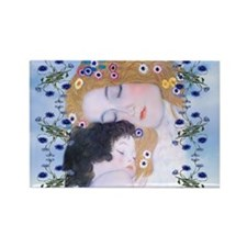 Gustav Klimt Mother & Child Lapto Rectangle Magnet