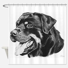 Rottweiler Shower Curtain