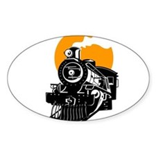 Steam train with sun Decal