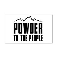 Powder to the people Car Magnet 20 x 12