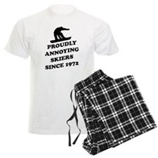 Snowboarders annoying skiers Pajamas